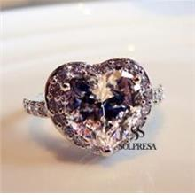 Solpresa One Karat Zircon Crystal Diamond Engagement Ring SMALL