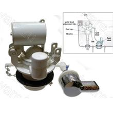 Toilet Cistern Flapper Flush Valve With Front Handle 58mm (FFV50FH)