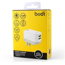 ORIGINAL budi M8J030U 2x USB Safety Timer 3PIN Charger iPhone X 8~2.4A