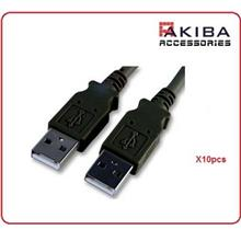 10pcs USB2.0 Cable AM to AM