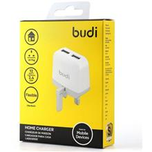 ORIGINAL budi M8J940U 12W Dual USB Home Wall Charger Adapter ~2.4A