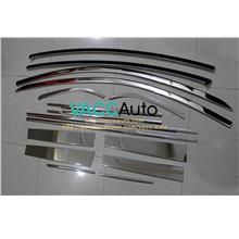 Nissan Almera Window Lining + Door Pillar Chrome