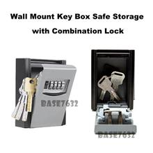 Wall Mounted Key Box Safe Storage Keys with 4 Digit Combination Lock