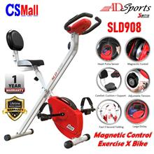 ADSports SLD908 Magnetic X Bike Home Gym Fitness Workout Exercise Bike