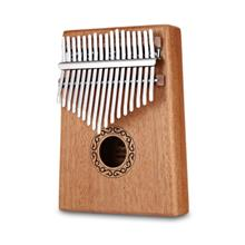 B - 17T 17 Keys Kalimba Thumb Piano Mahogany Body Musical Instrument (BURLYWOO