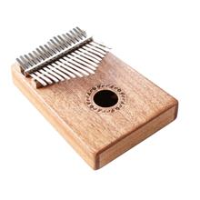 GECKO Kalimba Mbira Sanza 17 Keys Thumb Piano with Musical Notation (BURLYWOOD