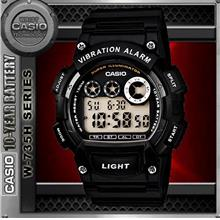 CASIO W-735H-1AV VIBRATION ALARM WATCH☑ORIGINAL☑