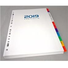 Year 2019 Weekly Planner Refill Set A5