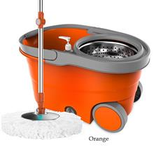 Bucket Magic Spinning Mop Microfiber Spin Mop Stainless Steel Basket