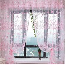 100CM X 270CM CHIFFON GAUZE VOILE WALL ROOM DIVIDER FLORAL PRINTED CURTAIN (PI
