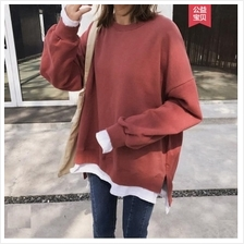 Women Korean Fashion Hedging Style Loose Longsleeved Sweater