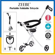 Lightweight Stainless Steel Foldable Adjustable Safe Tricycle Stroller