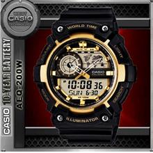CASIO AEQ-200W-9A WORLD TIME WATCH☑ORIGINAL☑