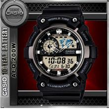 CASIO AEQ-200W-1A WORLD TIME WATCH☑ORIGINAL☑