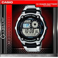CASIO AE-2100WD-1A 200M WR WATCH ☑ORIGINAL☑