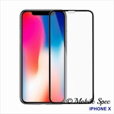 APPLE IPHONE X FULL COVER COLOR TEMPERED GLASS SCREEN PROTECTOR