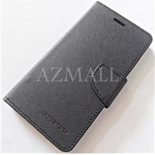 MERCURY Fancy Diary Case Flip Cover Huawei Honor 3X G750 ~ALL BLACK