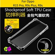 Oppo R15 Pro,R9s Plus,R9s Shockproof Transparent Soft TPU Case