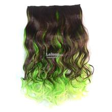 Seamless Hair Extension Gradient Wave Long Curling Clip Hairpiece