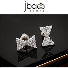Luxury Micro Pave Zircon Butterfly Bow Stud Earring / Earrings