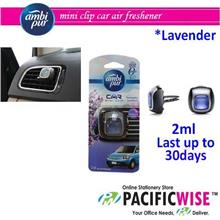 AMBIPUR CAR VENT CLIPS 2ML - LAVENDER