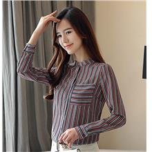[ CM22289 ]  Stylish Stripe OL Top As Picture