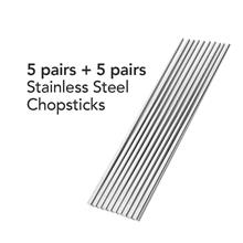Buffalo  S/Steel Chopsticks (5 pairs) + (5 pairs)