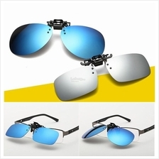 c248f71622 Polarized Clip on Flip Up Light Plastic Sunglasses Driving Outdoor