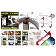 Mobile Phone Mount for Car Steering Holds HTC,GPS,iPhone,Samsung,Nokia