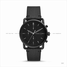 FOSSIL FS5504 Men's The Commuter Chronograph Leather Strap Black