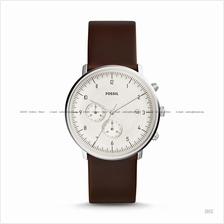 FOSSIL FS5488 Men's Chase Timer Chronograph Leather Strap Brown