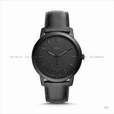 FOSSIL FS5447 Men's The Minimalist Small-Second Dial Leather Black