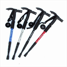 CLEYE 4 Joint Anti-shock Folding Trekking Hiking Alpenstock Stick