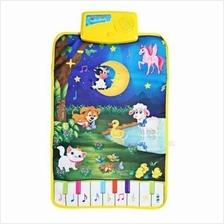 BABY MUSICAL CARTOON ANIMAL PLAY MAT LANGUAGE LEARNING TOY (COLORMIX)