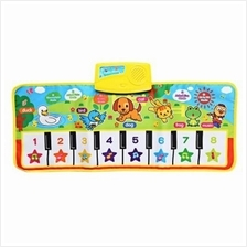 BABY MUSICAL CARTOON ANIMAL PIANO PLAY MAT LANGUAGE LEARNING TOY (COLORMIX)