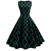 d318008af2 Lady Chic Mesh Waisted Sleeveless Vintage Dress w Belt (BLACK)