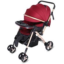 MOONSATER YA - 2305 UNIVERSAL CASTERS FOLDABLE BABY STROLLER (WINE RED)