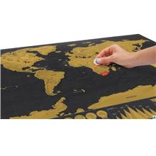Scratch Off Deluxe Edition Travel World Map/Globe-Personal Use or Gift