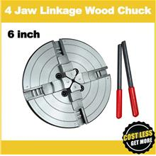 Professional 6' x 4-Jaw Wood Lathe Chuck / Self-Centering