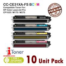 [10 Unit Mixed] HP 126A CE310A / CE311A / CE312A / CE313A