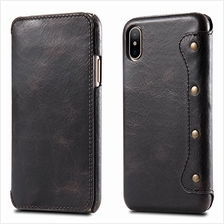 [From USA]iPhone X/iPhone Xs Case, Reginn Waxed Leather Folio with [Card Slot]