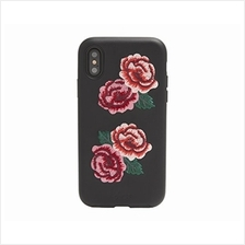 [From USA]iPhone Xs, iPhone X, Leather Flora Leather Cell Phone Case [Military