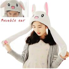 Moveable Ears Plush Toy Cute Animal Hat