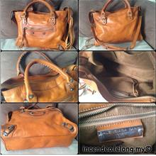 4962e92979   incendeo   - Authentic B4LENCI4G4 Classic City Brown Leather Bag