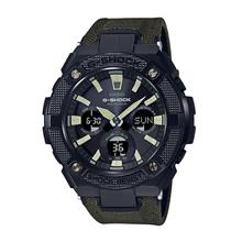 Casio G-Shock G-Steel Tough Leather Cloth Band Watch GST-S130BC-1A3DR