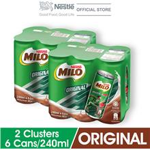 MILO Original Activ-Go Chocolate 240ml , 2 Clusters)
