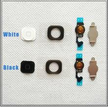 Black/White Home Button Menu with Flex Cable Key Cap for iPhone 5