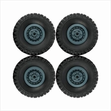 Rubber Tyre for WPL B - 1 / B - 24 Military Truck 4PCS (DEEP BLUE)