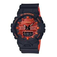 Casio G-SHOCK Men Ana-Digit Black Orange Sport Watch GA-800BR-1ADR