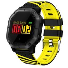 K5 Smart Watch Blood Pressure IP68 Fitness Bracelet (Yellow Black)